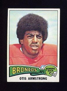 1975 Topps Football #350 Otis Armstrong RC - Denver Broncos Ex