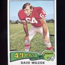 1975 Topps Football #331 Dave Wilcox - San Francisco 49ers
