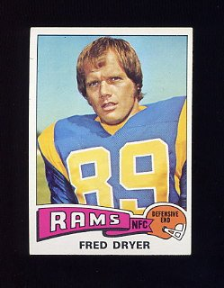 1975 Topps Football #312 Fred Dryer - Los Angeles Rams