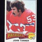 1975 Topps Football #294 John Tanner - New England Patriots