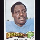 1975 Topps Football #284 Coy Bacon - San Diego Chargers NM-M