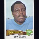 1975 Topps Football #284 Coy Bacon - San Diego Chargers Ex