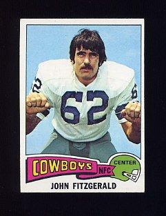 1975 Topps Football #257 John Fitzgerald - Dallas Cowboys