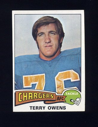 1975 Topps Football #256 Terry Owens - San Diego Chargers