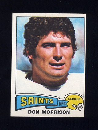 1975 Topps Football #242 Don Morrison - New Orleans Saints