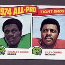 1975 Topps Football #207 Charley Young / Riley Odoms ExMt