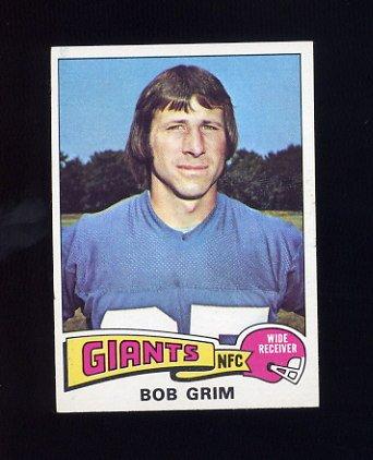 1975 Topps Football #173 Bob Grim - New York Giants