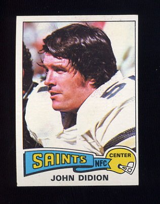 1975 Topps Football #162 John Didion - New Orleans Saints Ex