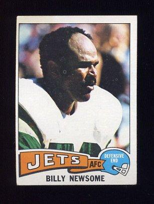 1975 Topps Football #94 Billy Newsome - New York Jets Ex