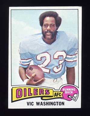 1975 Topps Football #83 Vic Washington - Houston Oilers ExMt