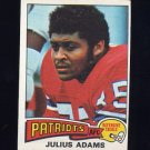 1975 Topps Football #73 Julius Adams - New England Patriots
