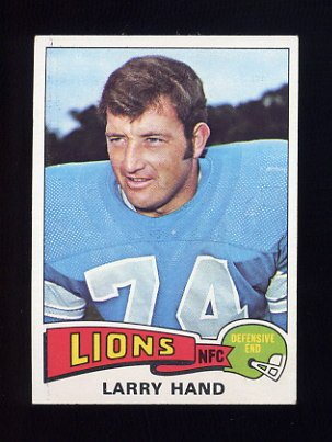 1975 Topps Football #42 Larry Hand - Detroit Lions NM-M