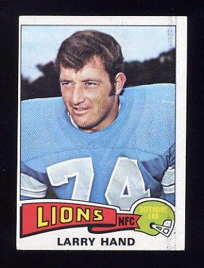 1975 Topps Football #42 Larry Hand - Detroit Lions ExMt