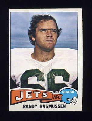 1975 Topps Football #36 Randy Rasmussen - New York Jets Ex