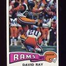 1975 Topps Football #34 David Ray - Los Angeles Rams
