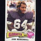 1975 Topps Football #29 John Mendenhall - New York Giants