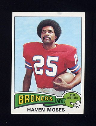 1975 Topps Football #17 Haven Moses - Denver Broncos