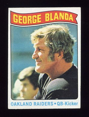 1975 Topps Football #7 George Blanda HL - Oakland Raiders P