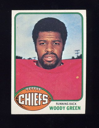 1976 Topps Football #336 Woody Green RC - Kansas City Chiefs