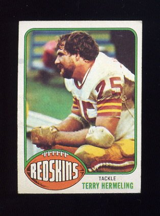 1976 Topps Football #349 Terry Hermeling RC - Washington Redskins