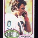 1976 Topps Football #299 Don Strock RC - Miami Dolphins ExMt