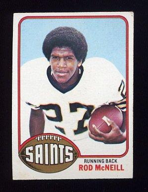 1976 Topps Football #294 Rod McNeill - New Orleans Saints