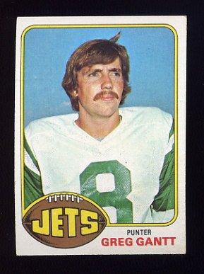 1976 Topps Football #267 Greg Gantt RC - New York Jets