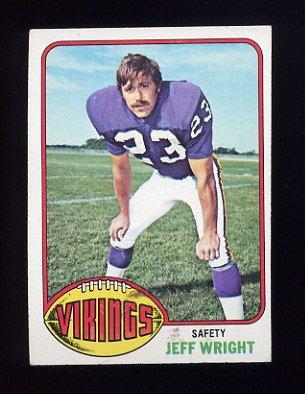 1976 Topps Football #211 Jeff Wright RC - Minnesota Vikings