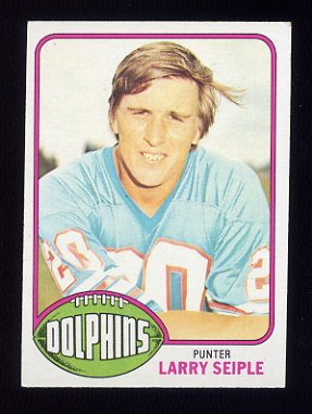 1976 Topps Football #172 Larry Seiple - Miami Dolphins ExMt