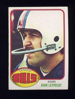 1976 Topps Football #113 John Leypoldt - Buffalo Bills
