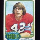1976 Topps Football #037 Bill Van Heusen - Denver Broncos