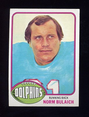 1976 Topps Football #413 Norm Bulaich - Miami Dolphins