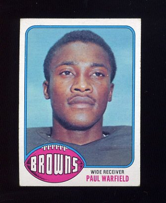 1976 Topps Football #317 Paul Warfield - Cleveland Browns