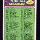 1976 Topps Football #273 Checklist 265-396 EX