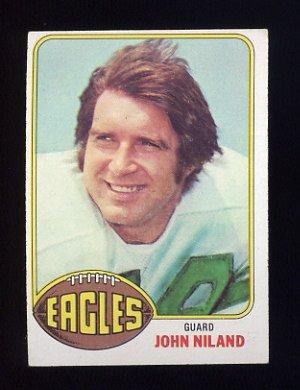 1976 Topps Football #085 John Niland - Philadelphia Eagles