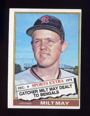 1976 Topps Traded Baseball #532T Milt May - Detroit Tigers Ex