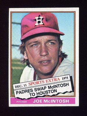 1976 Topps Traded Baseball #497T Joe McIntosh - Houston Astros