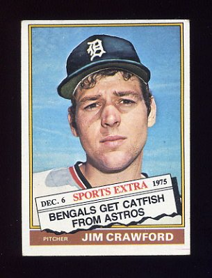 1976 Topps Traded Baseball #428T Jim Crawford - Detroit Tigers
