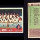 1976 Topps Baseball #656 Chicago White Sox CL / Chuck Tanner Ex