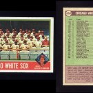 1976 Topps Baseball #656 Chicago White Sox CL / Chuck Tanner GVg