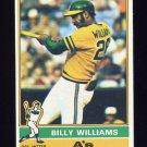 1976 Topps Baseball #525 Billy Williams - Oakland A's