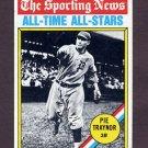 1976 Topps Baseball #343 Pie Traynor ATG - Pittsburgh Pirates NM-M