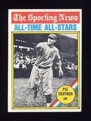 1976 Topps Baseball #343 Pie Traynor ATG - Pittsburgh Pirates Ex