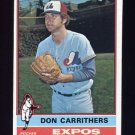 1976 Topps Baseball #312 Don Carrithers - Montreal Expos
