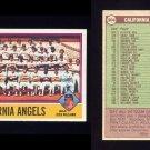 1976 Topps Baseball #304 California Angels CL / Dick Williams NM-M