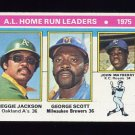 1976 Topps Baseball #194 Reggie Jackson / George Scott / John Mayberry