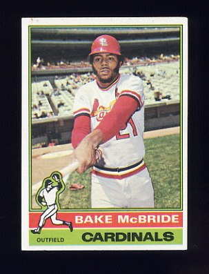 1976 Topps Baseball #135 Bake McBride - St. Louis Cardinals
