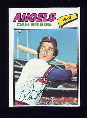 1977 Topps Baseball #592 Dan Briggs RC - California Angels