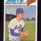 1977 Topps Baseball #587 Rick Baldwin - New York Mets
