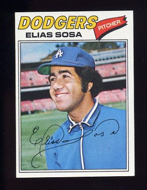 1977 Topps Baseball #558 Elias Sosa - Los Angeles Dodgers